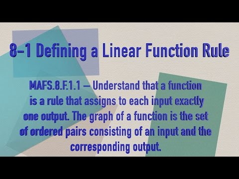 Ms. Stein, Twin Lakes Academy, 8-1 Defining a Linear Function Rule