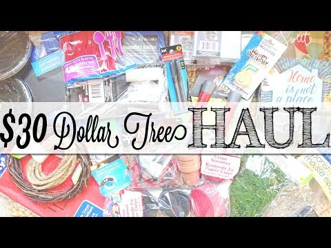 Dollar Tree Haul | $30 Haul | Craft Supplies & Birthday Party Decor