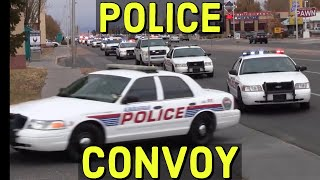 APD Albuquerque Police Department, BCSO Convoy with Lights and Sirens