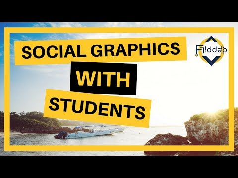 How to create good looking images with students. Design with Students made EASY! Adobe Spark Post