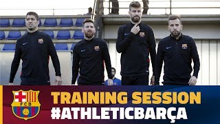 Last Training Session Before To Travel To Bilbao