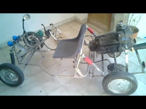 TISHITU Mechanical Project How to make HHO Go Kart .. Day 21 Go Kart Test