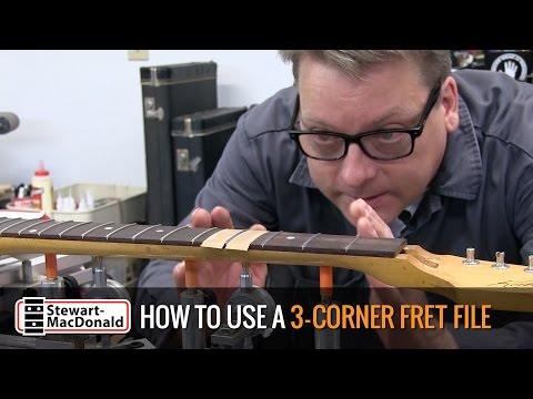 How to shape frets with a 3-corner file