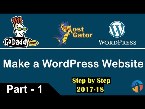 How to Create a Wordpress website - Link a Godaddy Domain Name with Hostgator Hosting