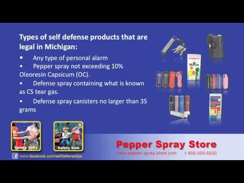 Michigan State Pepper Spray Laws  - What's Legal?