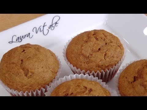Homemade Gingerbread Pear Muffins from Scratch Recipe - Laura Vitale - Laura in the Kitchen Ep 234