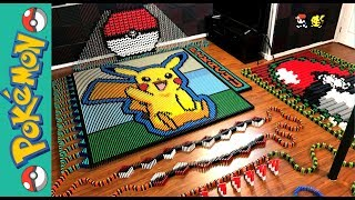 """Pikachu """"Pokemon of the Month"""" (IN 22,177 DOMINOES!)"""