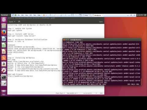 How to Install LAMP Stack  WORDPRESS in Ubuntu Server 16 04