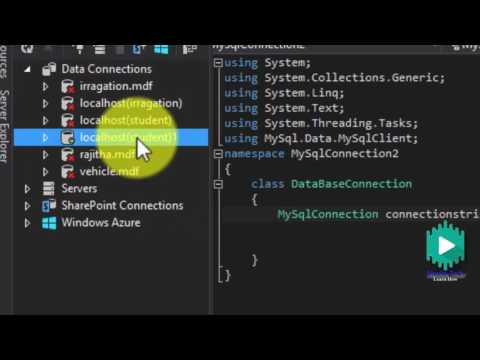 How to connect MySql to visual studio