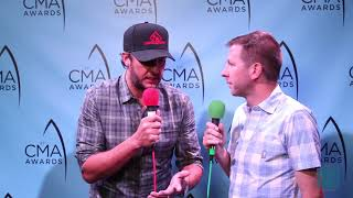 Luke Bryan at the 51st CMA Awards