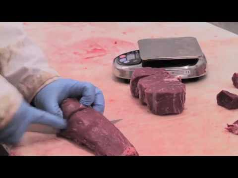 Cutting a Filet Mignon @ Farmingdale Meat Market, Main Street Meats
