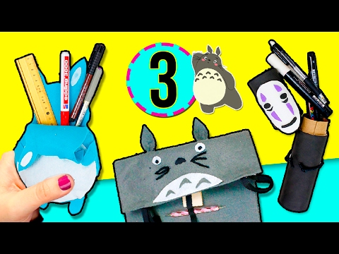 DIY 3 PENCIL CASES ✏️ Super easy tutorial NO SEWING