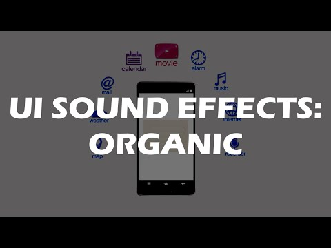 UI Sound Effects - Excellent user interface sounds, human and organic