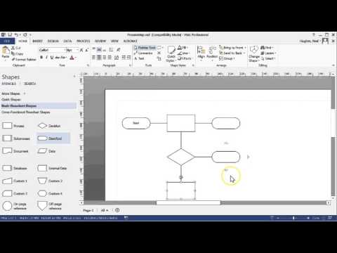 Creating a Process Map with Microsft Visio