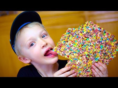 KIDS CRAFTS! Rice Crispy Treats With Fruity Pebbles!
