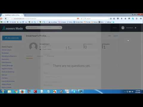 How to change password and update profile of Answers Mode Ask questions, get answers, find informa