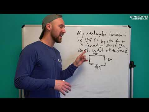 Finding the Measure of a Backyard Fence | Problem of the Day #83