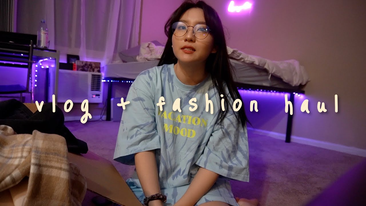 realistic college vlog: new classes, a fashion haul, and lots of food 🥘