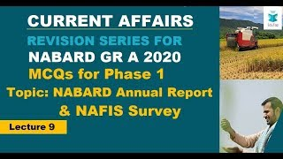 Lecture 9 |GA +ESI +ARD Current Affairs Revision Series|NABARD Gr A 2020|Phase 1