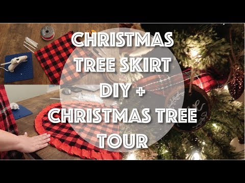 Christmas Tree Skirt DIY | Christmas Tree Tour | No Sew Tree Skirt DIY