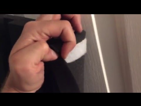How to Temporarily Attach Foam to the Ceiling and Walls