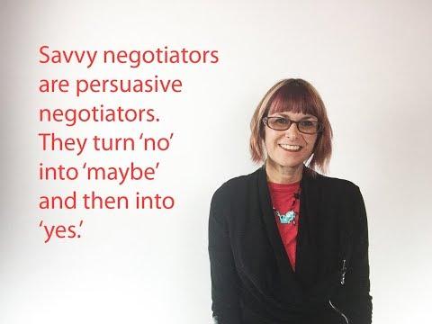 Become a persuasive negotiator