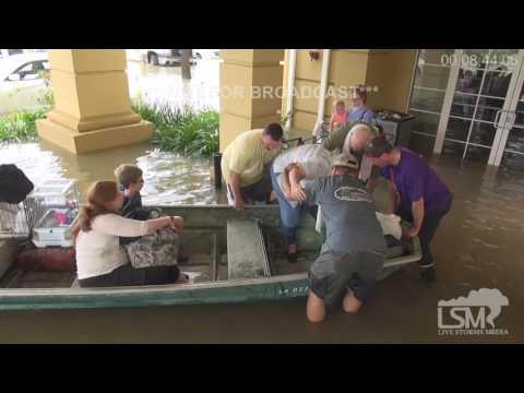 8-14-16 Walker, LA Flooding, Rescues, Stranded at La Quinta