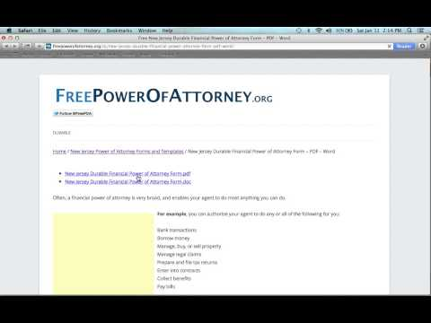 How to Fill in a New Jersey Power of Attorney Form