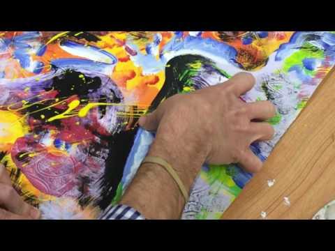 Identity Portrait Painting: Silhouette 5th Paint Layer  Drip + Splatter
