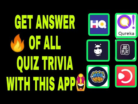 GET ALL QUIZ TRIVIA ANSWER WITH THIS APP 100% WITH PROOF
