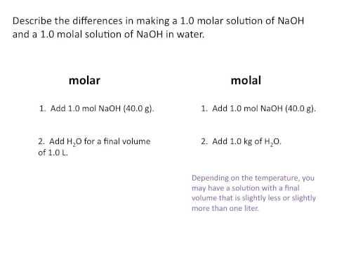Molality - Chemistry Tutorial