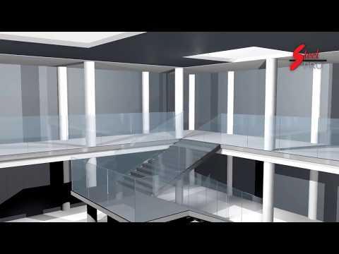 3D video animation/ glass railing profile LK63A