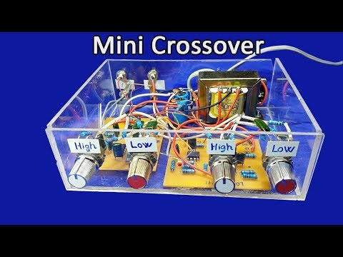 How to make mini crossover circuit at home