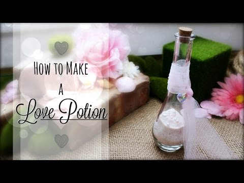 How to Make a Love Potion ♥ DIY Rose Scented Fairy Dust ♥ #Valentine Crafts