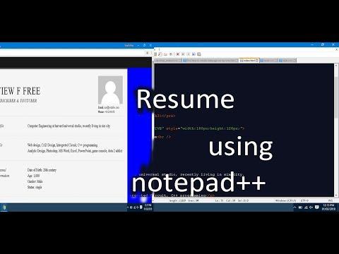 Create Resume webpage using (HTML5)