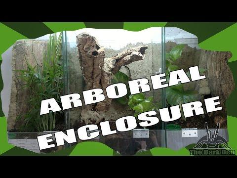 DIY: Setting up an arboreal enclosure with cork bark tube (for P. ornata)