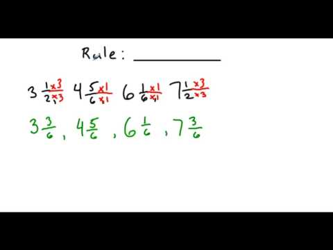 +/- Fractions w/ Unlike Denominators: Lesson 6: Patterns with Fractions (Find the Rule)