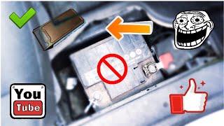 Come accendere l'auto con la batteria a terra👍