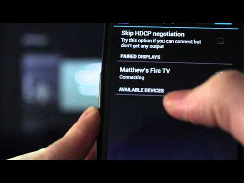 Amazon Fire TV Stick - How to Mirror Phone or Tablet