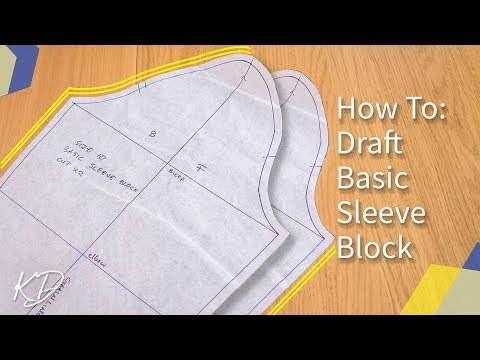 [DETAILED] HOW TO: MAKE BASIC SLEEVE PATTERN | KIM DAVE