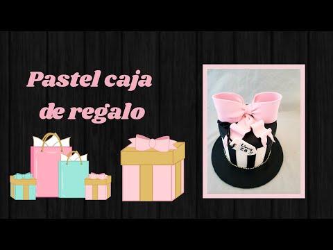 Saludando Y Pasteleando Pastel De Cajita De Regalo Redondo