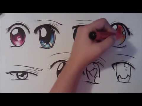 How to Draw Manga Eyes, Eight Different Ways