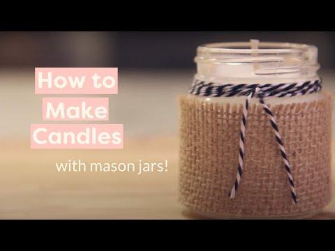 Mini Mason Jar Candles with Karen Kavett! - HGTV Handmade