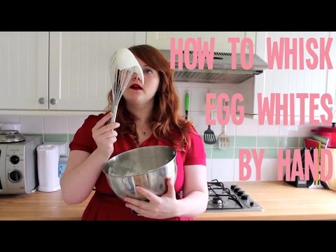 How to whisk egg whites by hand