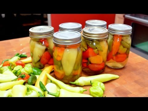 Harvesting & Canning Hot & Sweet Peppers