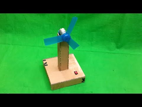How to Make a Simple Cardboard Table Fan at Home - DIY