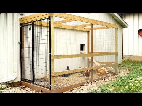 How We Made Our Chicken Coop Run!