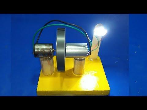 Free Energy Generator# Homemade with Motor Flywheel 100% New Technology Self Running exhibition