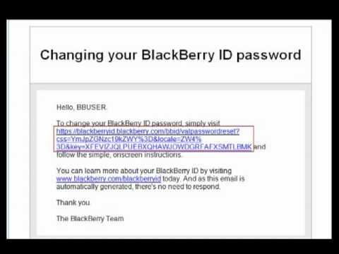Resetting your BlackBerry ID Password