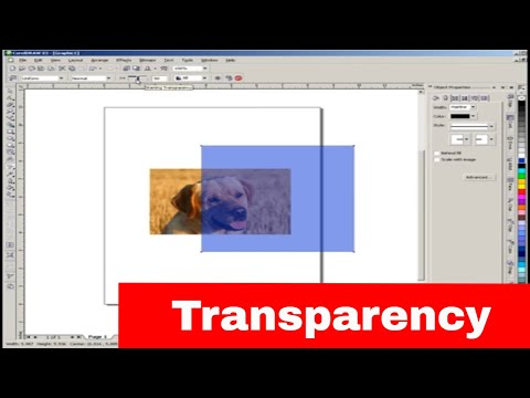 Tranparency tool in CorelDraw